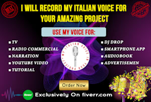 Fiverr / Search Results for 'italian voice acting'