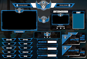 Graphics for Streamers by Stream Graphics Designers | Fiverr