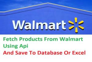 Fiverr / Search Results for 'walmart api'