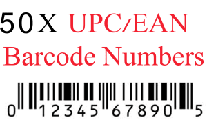 UPC Codes Bar Codes For Listing On eCommerce Marketplaces!! 20000 EAN