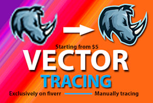 Raster Vector Conversion Services - Logo Vector & Images | Fiverr