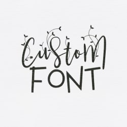 develop your own font design to ttf or otf format