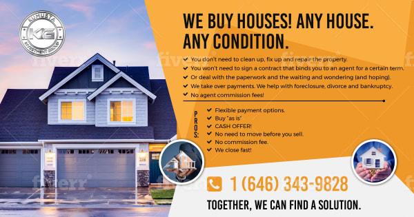 design eye catching real estate flyer
