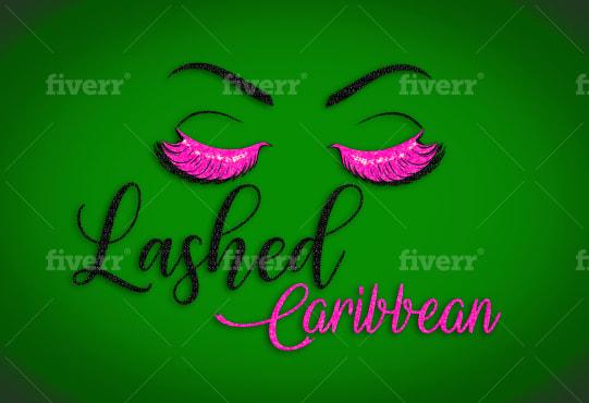do eyelash brow or beauty makeup lip gloss balm logo