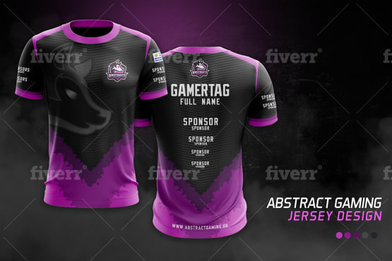 make jersey design for sports team, esports, gaming team