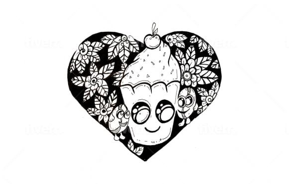 do fun doodle art for you