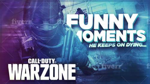Create A Professional Gaming Thumbnail For Youtube Warzone By
