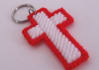 send you 1 handcrafted cross key ring