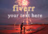 create Fireworks Animation Video with Your Message