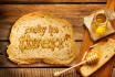 draw your logo or text on Bread With HONEY