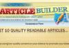 create 10 High Quality Readable Articles with Article Builder