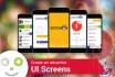 create an attractive UI Screens