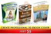 create PROFESSIONAL amazing 3D ebook cover