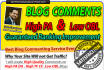 create 1000 High PR Blog comments