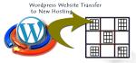 transfer wordpress site to new hosting