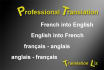 translate French into English or English into French