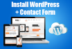 install wordpress on your server with contact form