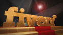 create this golden stage 3d logo video intro animation