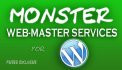 do Monster Web master service for your Wordpress site