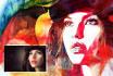 paint watercolor and pencil portrait