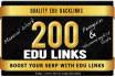 do 200 EDU Blog Comment Backlinks