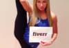 hold the ultimate fan sign while STRETCHING