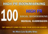 submit your site MANUALLY to Top 100 Social Bookmarking sites with google index