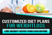 create a customized weightloss diet plan for you