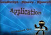 create A JavaScript/jQuery application