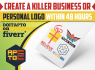 create a killer business or personal logo within 48 hours