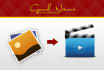 create images video slide and add subtiltes on your video