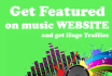 publish your music or bio or news on our high ranking music websites