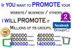 promote your Business or website over 10Millions Real and Active fb usres
