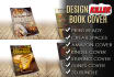 design killer book cover or kindle cover with free 3D