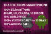 1000 Traffic daily Mobile iOS Android 30DAYs