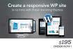 install or create or setup responsive Wordpress website