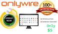 provide ONLYWIRE all Social Accounts Manually