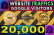 drive 20k guaranteed Real visitors to your website blog page