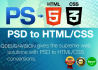 create Professional, Web TEMPLATE, Convert Psd to Html or Css