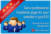 create an awesome Facebook page for your website