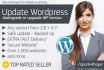 upgrade or downgrade your WORDPRESS website version