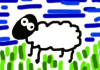 draw a simplistic custom sheep based on your wishes