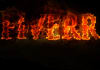 write text or message or name giving fire effect with photoshop