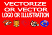 do vector a logo or picture professionally within 24 hours