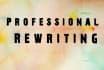 professionally rewrite any 350 words