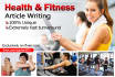 write 500 words High Quality Health and Fitness ARTICLES