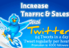 tweet about your company or website 24 times in day to 6,000 and growing very receptive followers