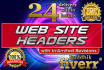 design Web Headers, Banners, Covers within 24 hours