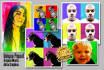create you a pop art portrait like andy warhol