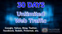 send unlimited organic and social media web traffic